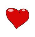 red heart valentine love symbol icon vector image
