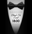 a4 elegant black tie event invitation template vector image vector image