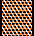 abstract orange and black cubes background vector image vector image