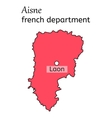 Aisne french department map vector image vector image