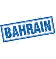 bahrain blue square grunge stamp on white vector image vector image