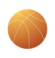 basketball grunge orange symbol vector image vector image