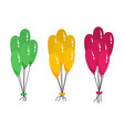 bunches of several colour helium balloon vector image vector image