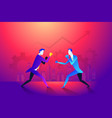 business fight club boxing and glove vector image