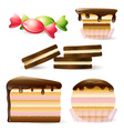 Cake and Biscuits vector image vector image