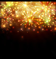 colorful firework background vector image vector image
