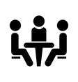 Conference icon People sitting at the table vector image vector image