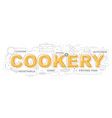 cookery icons for education graphic design vector image