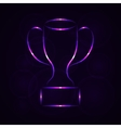 Cup silhouette of lights on dark background vector image vector image