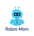 cute cartoon robots sign robot head avatar or vector image vector image
