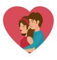cute couple design vector image vector image