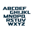 digital uppercase alphabet futuristic technology vector image