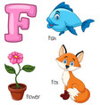 f alphabet vector image vector image
