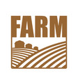 farm logo agriculture sign arable land and