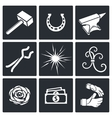Forge Icon set vector image vector image