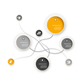 Four colored circles vector image vector image