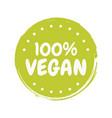 fresh healthy organic vegan food badge vector image