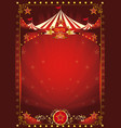 fun red circus poster vector image