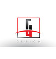 g logo letters with red and black colors and vector image vector image