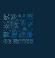 genetics square minimal outline blue design vector image vector image