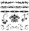 gothic patterns and ornaments vector image