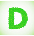 grass letter D vector image