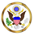 great seal of america vector image vector image