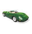 green sportscar vector image vector image