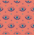 hand drawn boho eyes doodles pattern vector image vector image