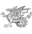 heraldic dragon no8 vector image vector image