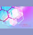 hexagon abstract translucent colors vector image vector image