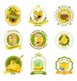 Honey Emblems Set vector image vector image