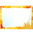 horizontal card for thanksgiving vector image vector image