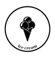 Ice-cream cone icon vector image
