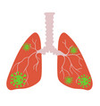 infected lungs icon isolate on white background vector image