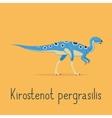 Kirostenot pergrasilis dinosaur colorful card vector image vector image