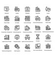 logistic delivery icons set 2 vector image