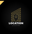logo location map negative space symbol in the vector image