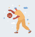 man plays basketball vector image vector image