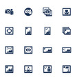Media photo icons vector image vector image