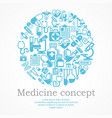 medical blue background vector image vector image
