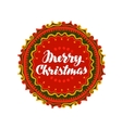 Merry Christmas Festive banner with decorative vector image vector image