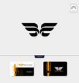 minimal initial b wings creative logo template vector image vector image