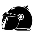 motorcycle helmet scooter icon simple black style vector image