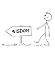 person walking on path or way for wisdom vector image vector image