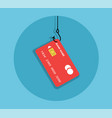 plastic card on the hook vector image