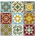 portuguese tiling patterns old vector image