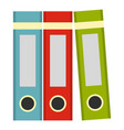 red green blue office folders icon isolated vector image vector image