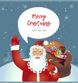 santa claus classic retro cartoon waving her vector image vector image