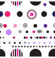 seamless abstract geometry circles pattern on vector image vector image